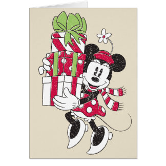 Disney | Vintage Minnie Delivering Holiday Cheer Card