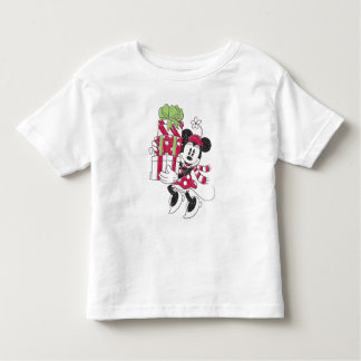 Disney | Vintage Minnie Delivering Holiday Cheer Toddler T-shirt
