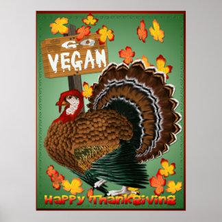 Disparaissent l'affiche de Végétalien-Thanksgiving Poster