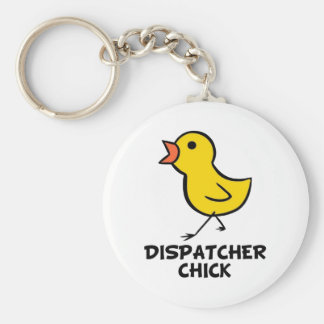 Dispatcher Chick Keychain