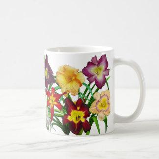Display of daylilies I (on white background) Coffee Mug