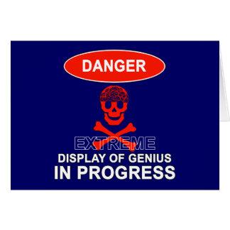 Display of Genius Greeting Card