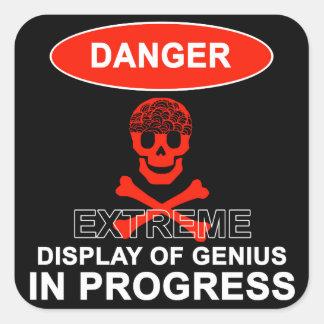 Display of Genius Square Sticker