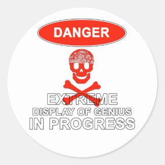 Display of Genius Stickers