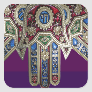 DISPLAY only :Decorative Religious ICONS Square Sticker