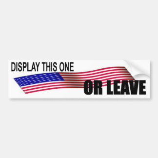 DISPLAY THIS ONE OR LEAVE-5 BUMPER STICKER