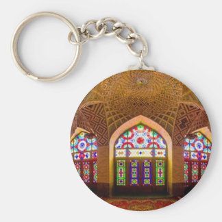 DISPLAY with respect: Religious Place of Worship Basic Round Button Keychain