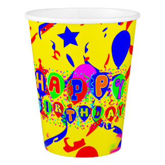 Disposable birthday paper cup
