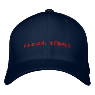 disposable HEROES Embroidered Hat