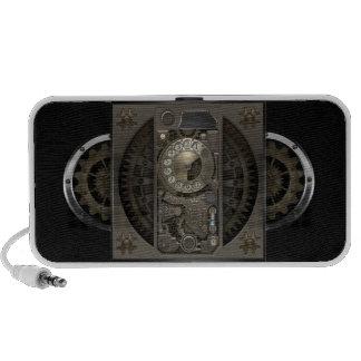 Dispositif de Steampunk - téléphone de cadran Haut-parleurs iPod