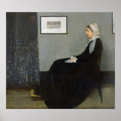 Disposition dans No.1 gris et noir Poster
