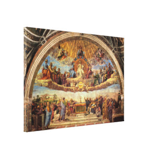 Disputation of the Eucharist Canvas Print