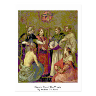 Dispute About The Trinity By Andrea Del Sarto Postcard