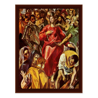 Disrobing Of Christ By Greco El Postcard
