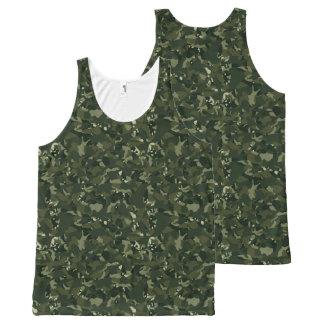 Disruptive khaki camouflage All-Over-Print tank top