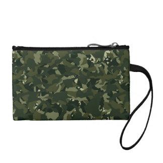 Disruptive khaki camouflage coin purse