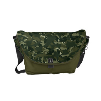 Disruptive khaki camouflage courier bag