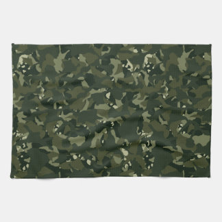Disruptive khaki camouflage kitchen towel