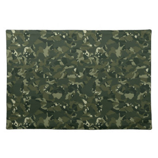 Disruptive khaki camouflage placemat