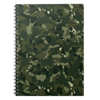 Disruptive khaki camouflage spiral notebook