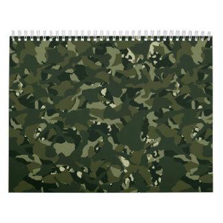 Disruptive khaki camouflage wall calendars