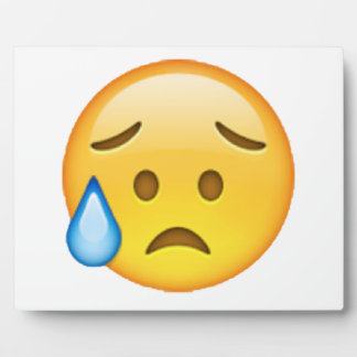 Dissappointed But Relieved - Emoji Plaque