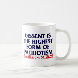 Dissent (expired 01.20.09) coffee mug