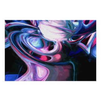 Dissolving Imagination Painted Abstract Poster