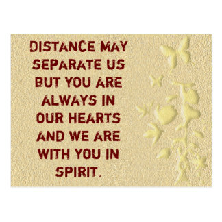 Distance may separate us-postcard postcard