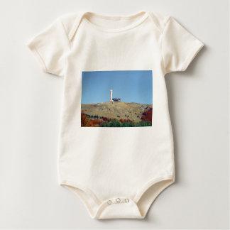 Distant Buzludzha, Balkan Mountains, Bulgaria Baby Bodysuit