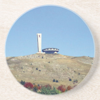 Distant Buzludzha, Balkan Mountains, Bulgaria Coaster