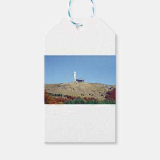 Distant Buzludzha, Balkan Mountains, Bulgaria Gift Tags