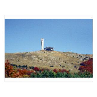 Distant Buzludzha, Balkan Mountains, Bulgaria Postcard