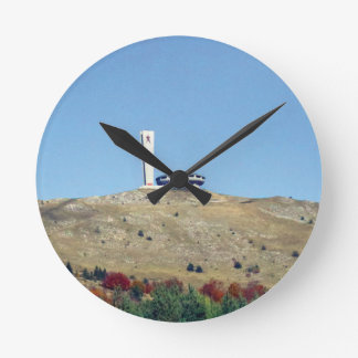 Distant Buzludzha, Balkan Mountains, Bulgaria Round Clock