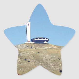 Distant Buzludzha, Balkan Mountains, Bulgaria Star Sticker