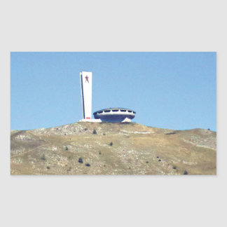 Distant Buzludzha, Balkan Mountains, Bulgaria Sticker
