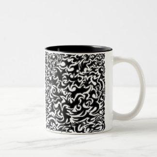 'Distant Dragons' Abstract Art Print Two-Tone Coffee Mug
