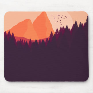 Distant Planet Landscape Mouse Pad