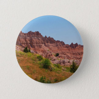 """Distant Red Cliffs"" collection 2 Inch Round Button"