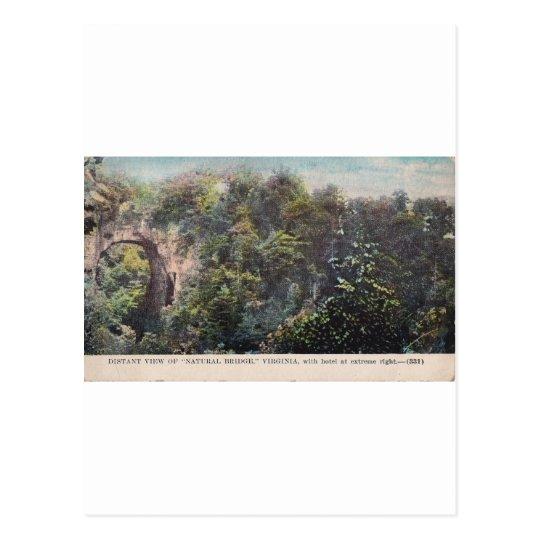 "Distant View of ""Natural Bridge,"" Virginia Postcard"
