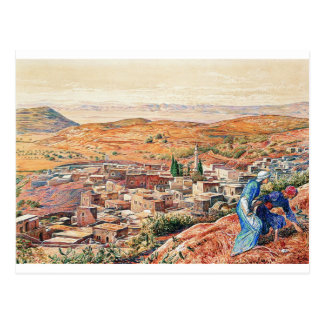 Distant View of Nazareth by William Holman Hunt Postcard