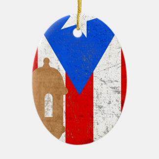distessed el moro puerto rico.png ceramic ornament