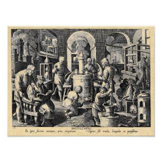 Distillation Furnace in an Alchemy Lab Art Photo