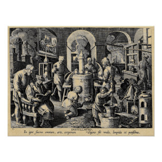 Distillation Furnace in an Alchemy Lab Perfect Poster