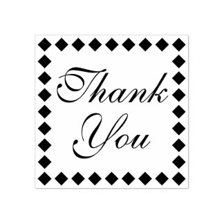 Distinctive and Elegant Thank You Rubber Stamp