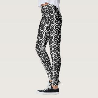 Distinctive black swirls leggings