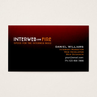 Distinctive Black to Red Internet-Web Guru Business Card