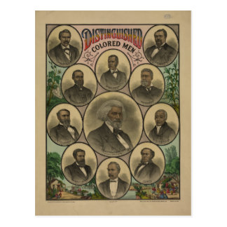 Distinguished Colored Men Frederick Douglass 1883 Postcard