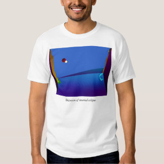 Distorsion of inverted eclipses t-shirts