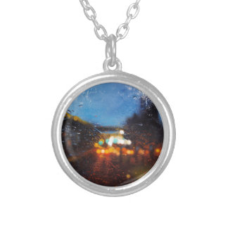 Distorsions XII Silver Plated Necklace